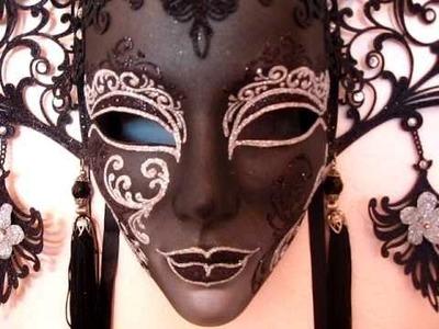 The Dark Princess Black Laser Cut Venetian Mask