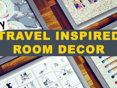 Travel Inspired Room Decor | DIY Room Decor | DIY Gallery Wall