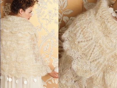 #2 Lace and Pearls Cape, Vogue Knitting Fall 2012