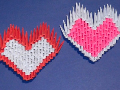 3D origami a heart tutorial for beginners (a gift)