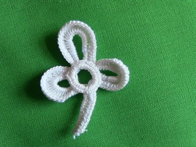A Small Shamrock in Irish Crochet Lace