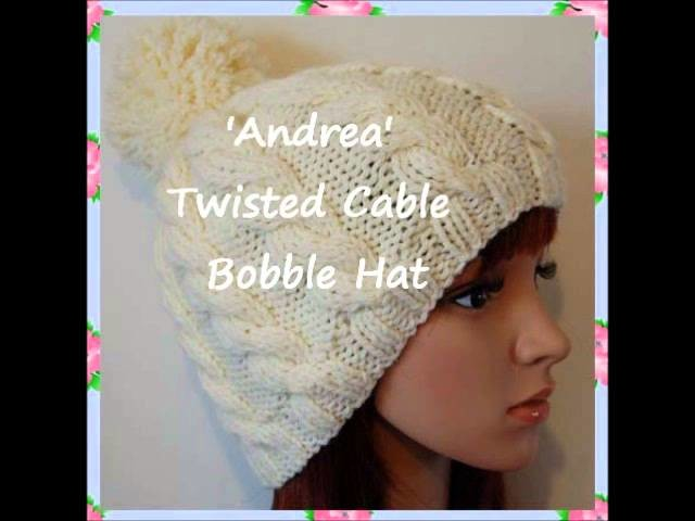Andrea Chunky Yarn Unisex Bobble Beanie Hat Knitting Pattern Child Teen Adult