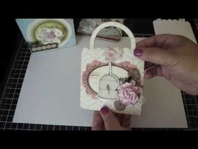 Bona for AccuCut Craft - 3 Projects 1 Purse Pocket Die! |  Make a Card, Scrapbook Album and Gift Box