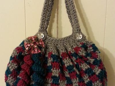 #Crochet Clever Blocks Stitch Handbag Purse #TUTORIAL