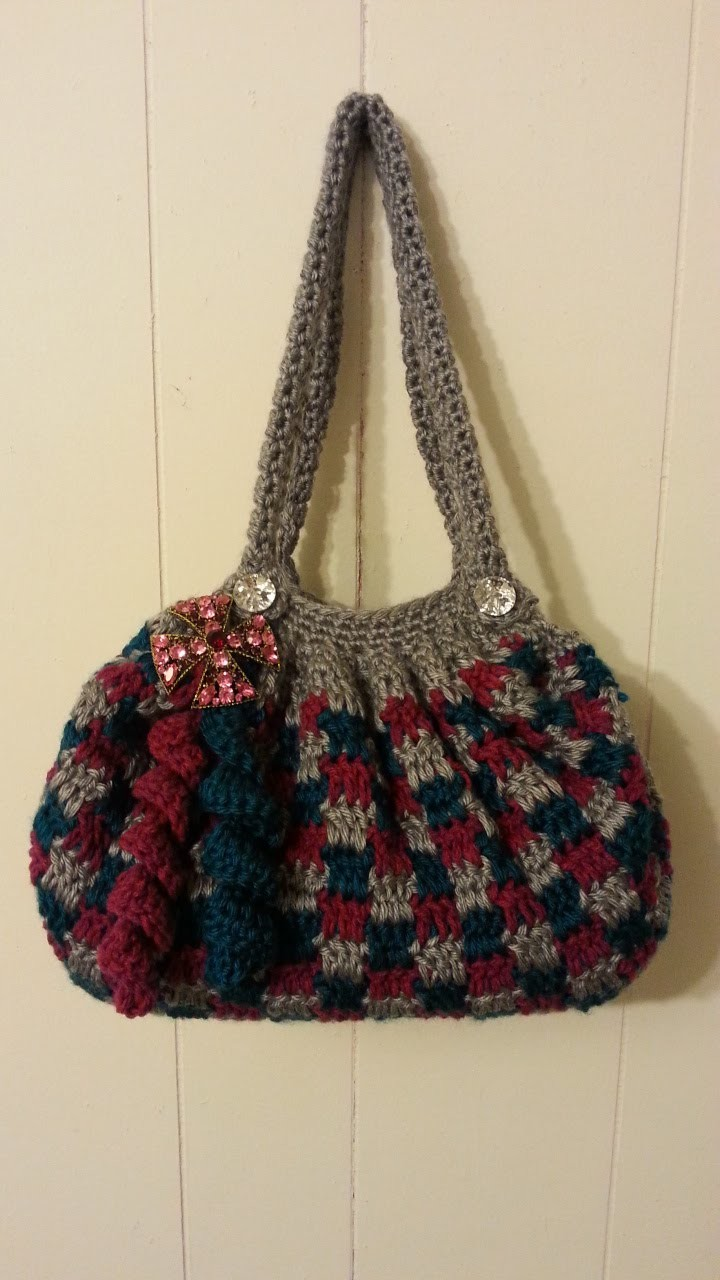 #Crochet Clever Blocks Stitch Handbag Purse #TUTORIAL