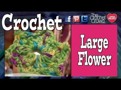 Crochet Large Picot Flower Tutorial