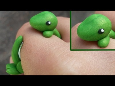 Dinosaur T-Rex Wrap Around Ring Polymer Clay Tutorial. Arcilla Polimérica