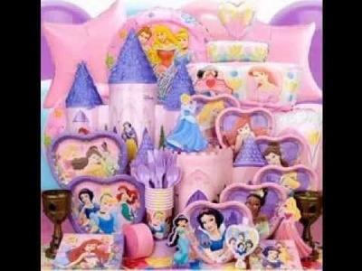 DIY Disney princess birthday party decorations ideas