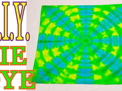 DIY Easy 2-Color Tie Dye Bandana + Variations