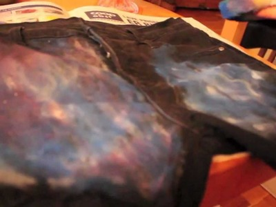 DIY Galaxy shorts tutorial