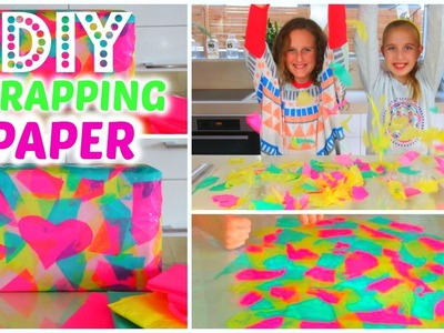 DIY Gift Wrapping Paper - How to Make Handmade Gift Paper , Designer Easy to Make