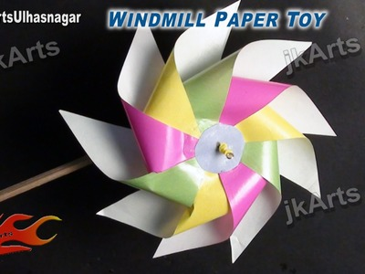 DIY How to make Paper Toy Windmill (Easy craft for kids) - JK Arts 526