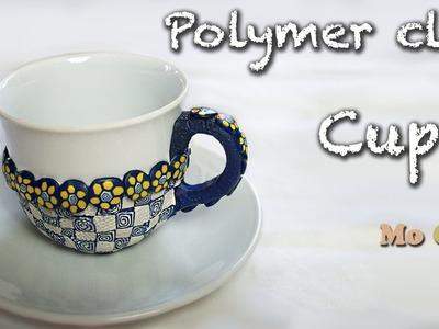 DIY Polymer clay decoration cup tutorial