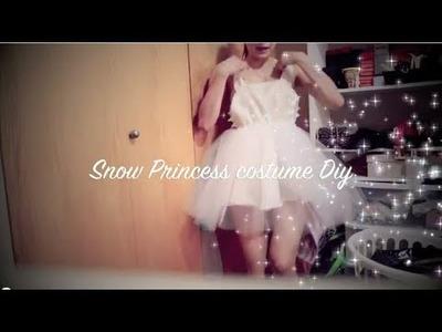 DIY-Snow princess costume pt. 1