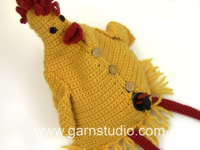 DROPS Crocheting Tutorial: How to fill a hen wine cover