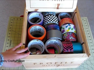 Duct Tape Storage - How We Store Our Duct Tape!!! (Duct Tape Crafts, Duct Tape Tutorial)