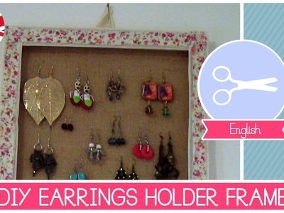 Earrings Holder FRAME DIY - Super Easy Crafting Tutorial by Fantasvale