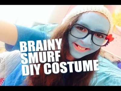 Easy DIY - Do It Yourself No-Sew Halloween Costume Brainy Smurf