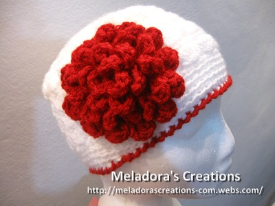Flat Rose Flower - Left Handed Crochet Tutorial