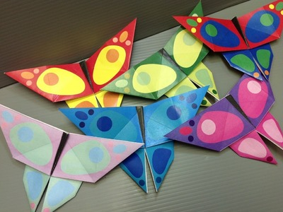 Free Origami Butterfly Paper - Print Your Own! - Butterflies