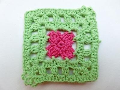 How to Crochet * Granny Square Mille Fiori