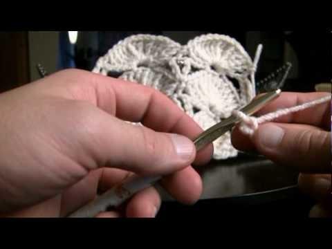 How To Crochet Jumbo Fan Pattern Part 1 of 2 LH