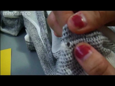How to fix a knitted sweater pull