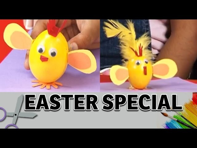 How To Make A Easter Egg Chick - Art and Craft ideas (Easter Egg Decoration)
