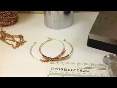 How To Make A Rolo Chain Cuff Bracelet #DIY
