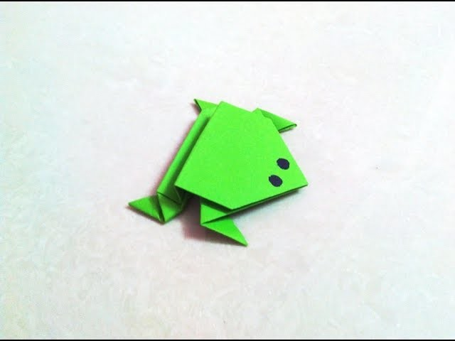 How To Make An Origami Paper Frog Origami Paper Folding Craft