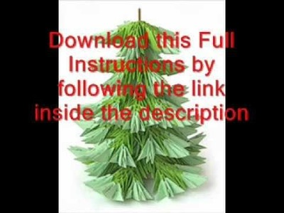 How to make easy 3d origami christmas tree