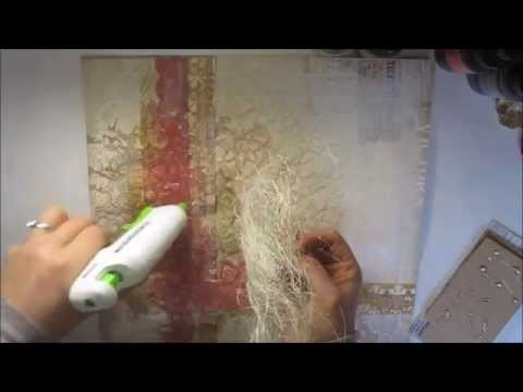 How to make scrapbook page 'Together' mixed media layout
