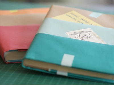 How to Make Textbook Covers || KIN PARENTS