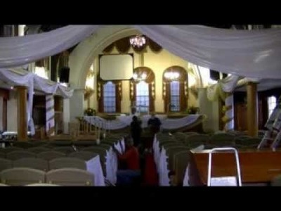 How to prepare a public hall building for wedding functions decorations