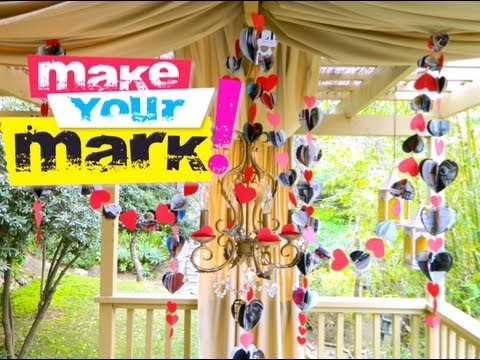 HOW TO: Recycled Valentine's Day Garland DIY