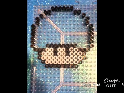 Kerby Mario mushroom - perler beads tutorial