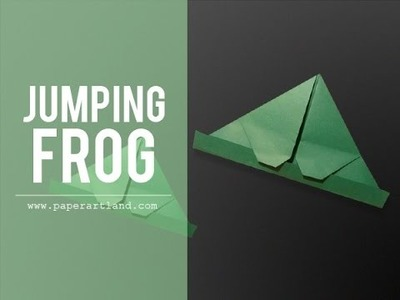 Let's make an origami Frog that can jump ( Traditional )