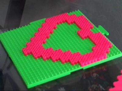 LMFAO Lalala Pixel Heart Necklace Tutorial with Perler Beads