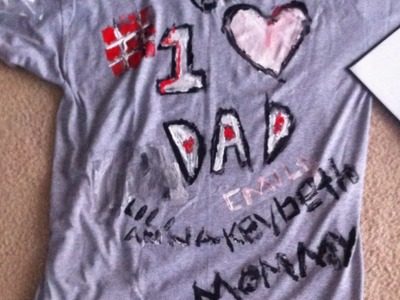 Make a Last-Minute Fathers Day T-shirt - DIY Crafts - Guidecentral