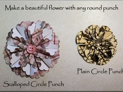 Make Beautiful Flowers From Circle Punches