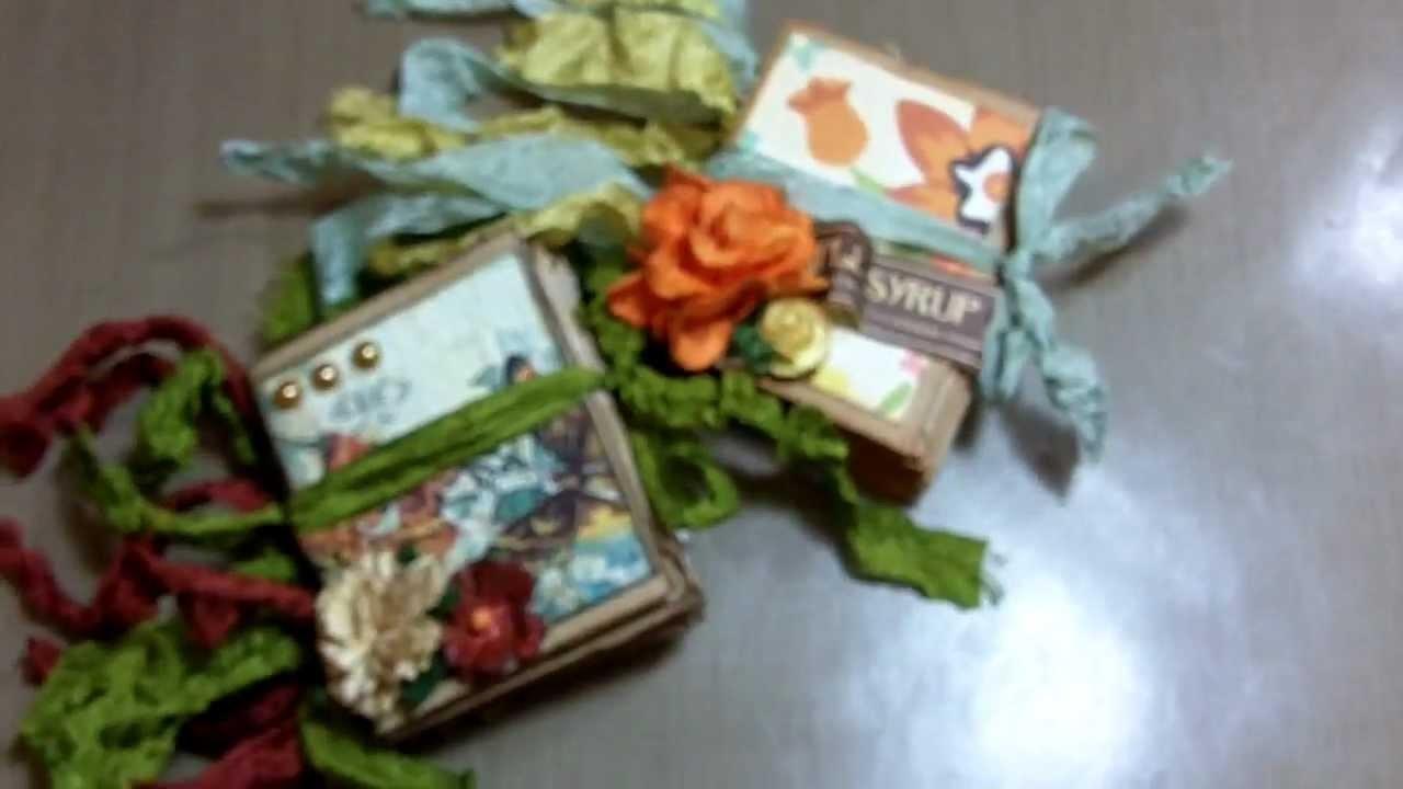Micro paper bag mini album and binding tutorial! (Vid #372)
