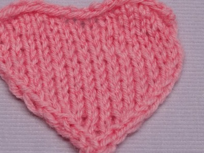 Mini-Herz mit verkürzten Reihen - Mini-Heart with short rows - Strickmuster - Knitting Pattern