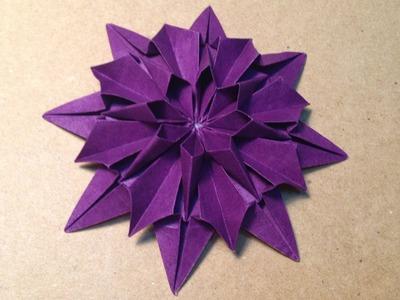 Origami Flower Instructions. Dahlia