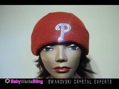 b064243cbfa Philadelphia Phillies Swarovski Crystal Bling Rhinestone. Philadelphia  Phillies blinged out ladies knit beanie team hat.