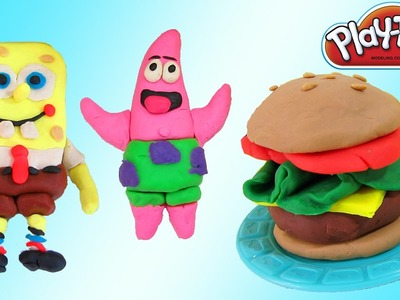 Play Doh Spongebob Squarepants, Patrick Star, & Krabby Patty | Fun & Easy How To DIY Play Dough!