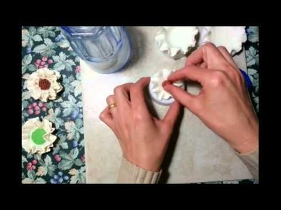 (Polymer  clay flower tutorial)  cold porcelain clay flower , paper flower ,diy , porcelana fria
