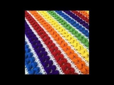 Rainbow Baby Blanket - Crochet Blanket Pattern Presentation