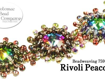 Rivoli Peacock Bracelet or Necklace