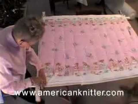 Tie Quilting How To Video 3 of 3 Tying The Quilt from Americanknitter.com