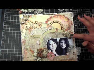 """Treasure"" Friend - 8x8 Scrapbook Layout & Tutorial"